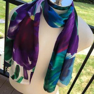 Echo vintage silk brilliantly colored floral scarf